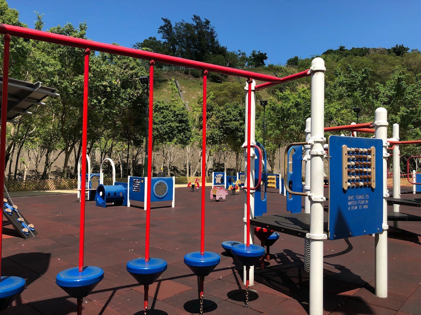 Siu Sai Wan Promenade's balance equipment at playground