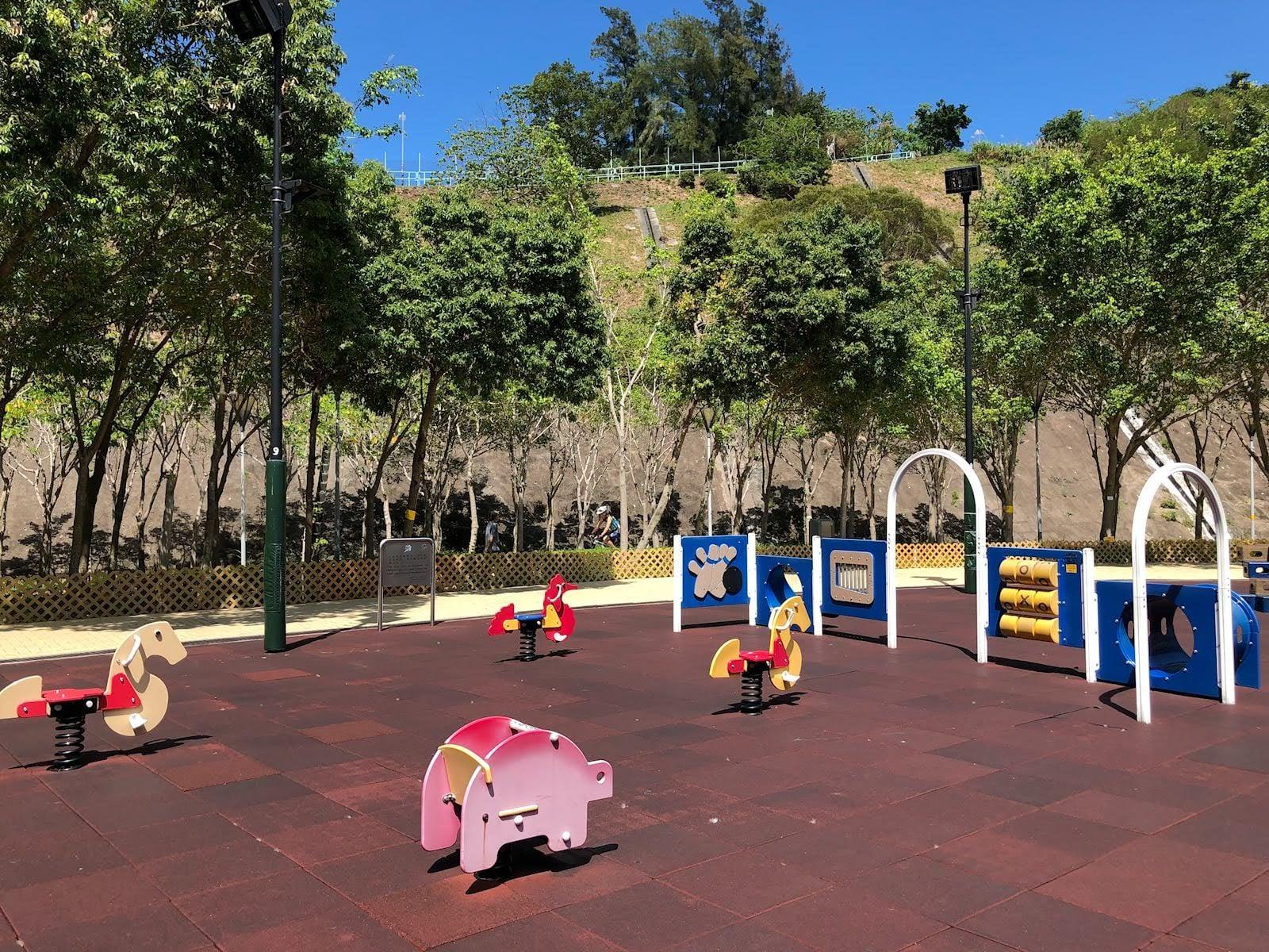 Siu Sai Wan Promenade's spring riders at playground