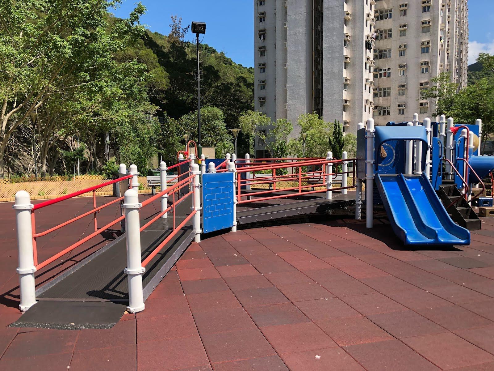 Siu Sai Wan Promenade's spacious playground area