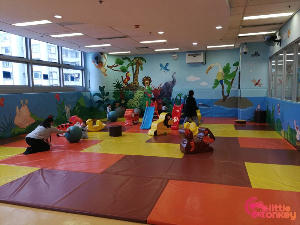 Island East Sports Centre's play room for children