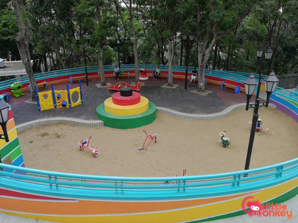 Hong Kong Park's sandpit at children's playground