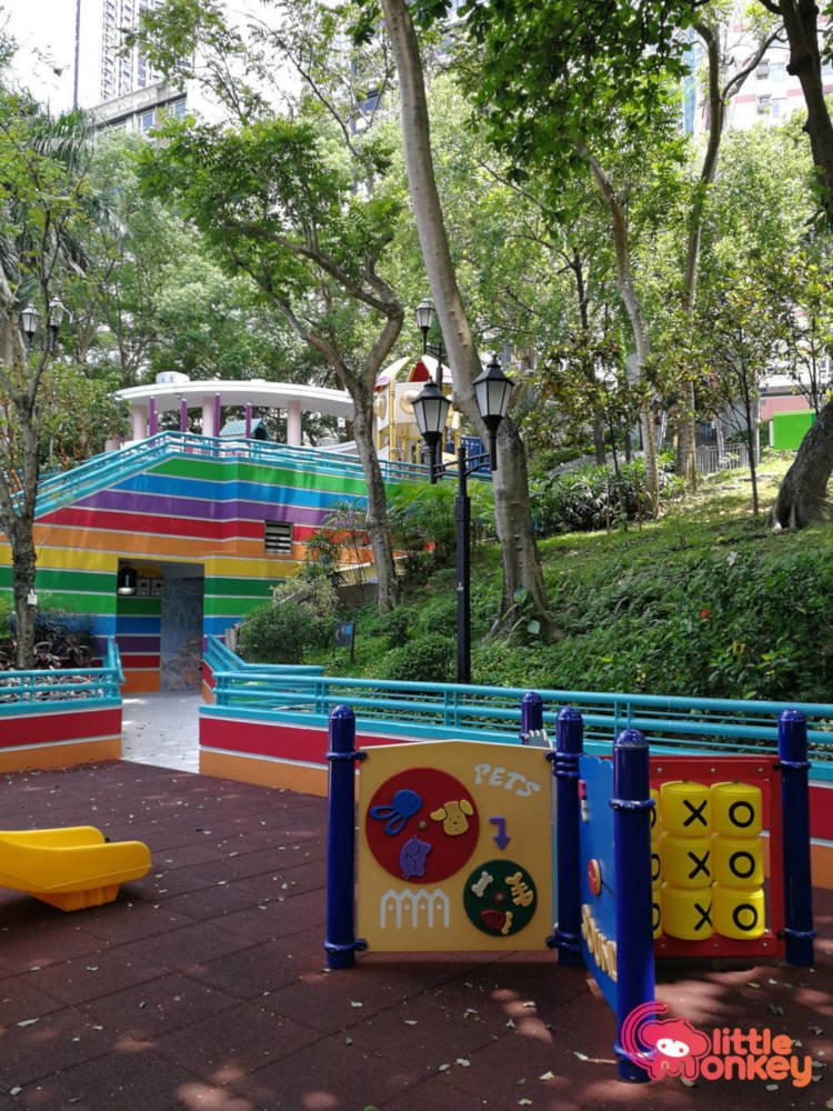 Hong Kong Park's colorful playground