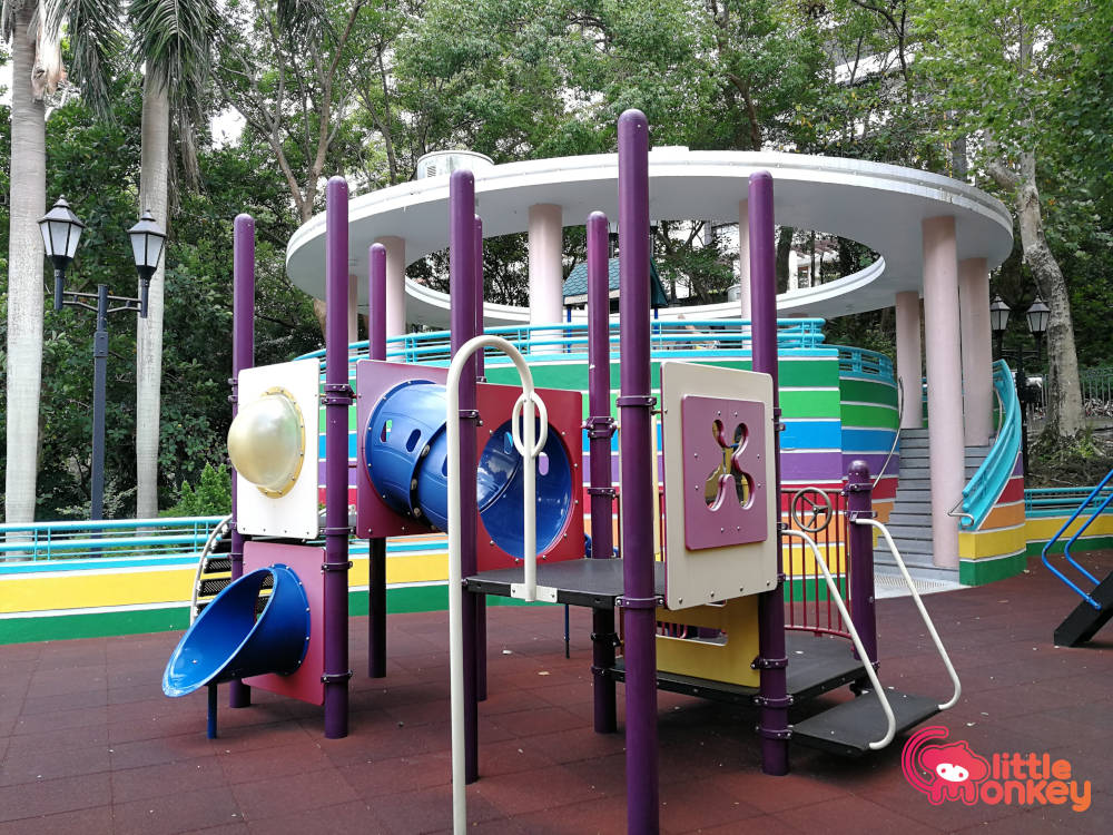 Hong Kong Park Childrens Playground's obstacle maze