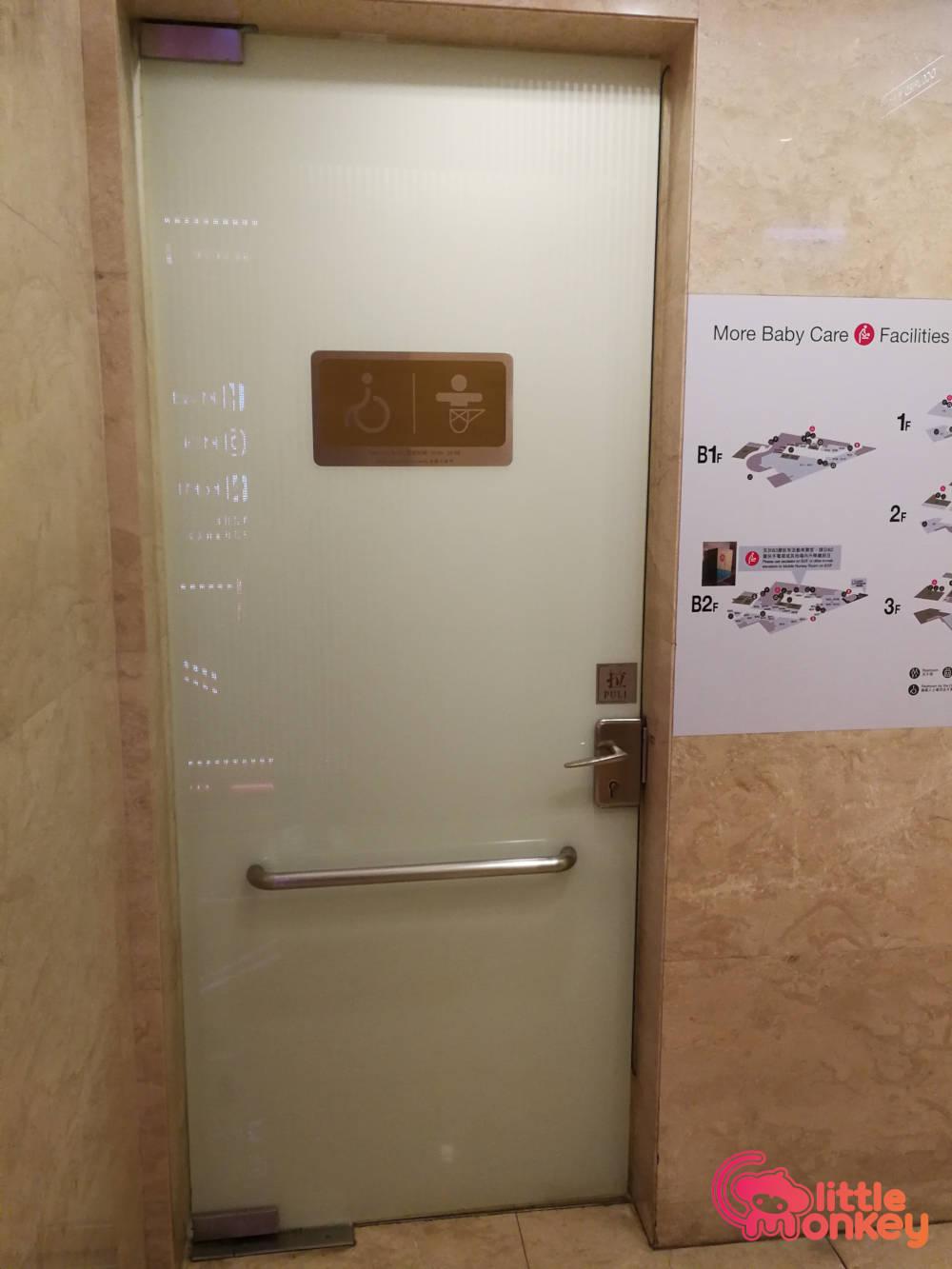 K11's Entrance door of baby care room