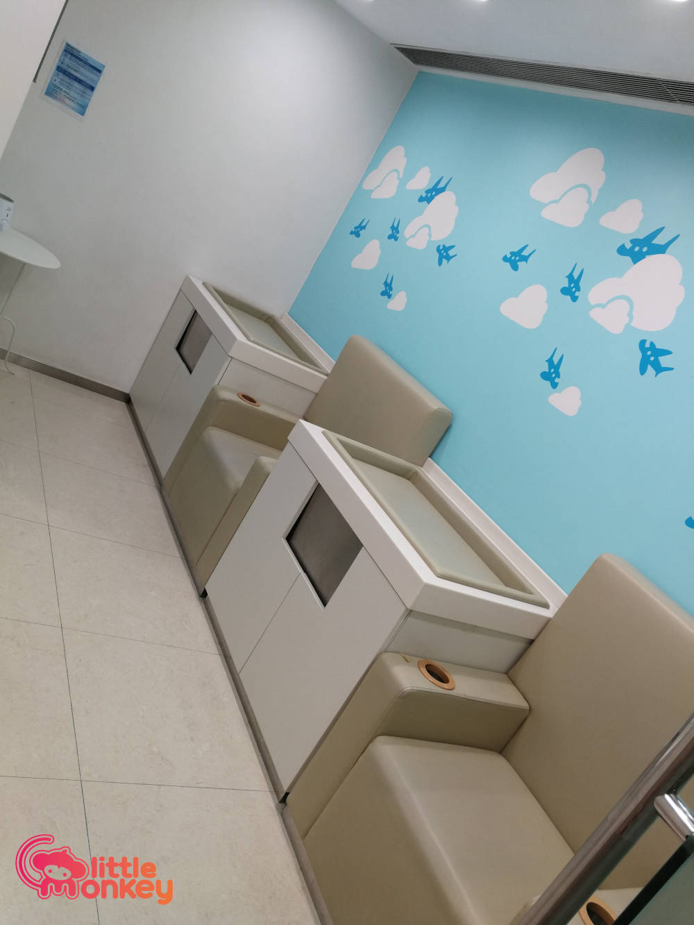 Silvercord's changing station of baby care room