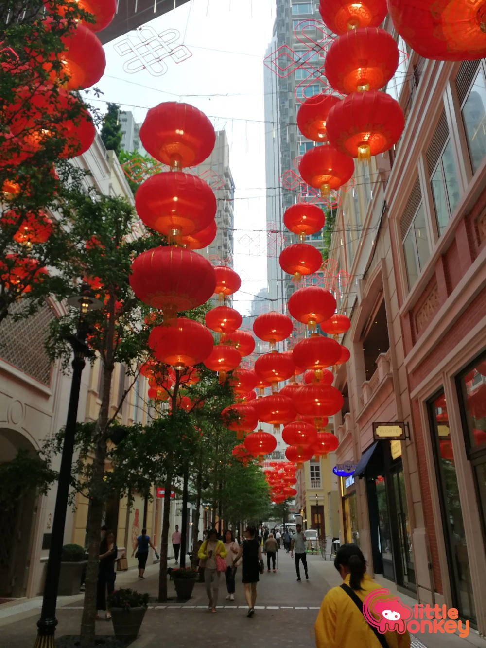 Traditional lanterns for Chinese New Year at Lee Tung Avenue