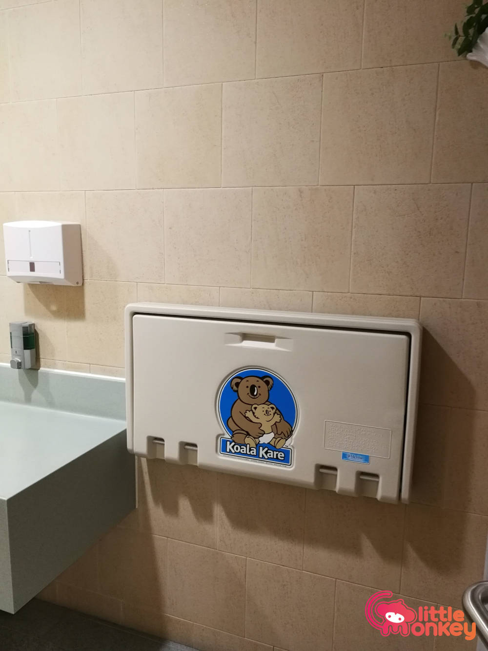 Baby care room's changing station in Hong Kong Squash Centre
