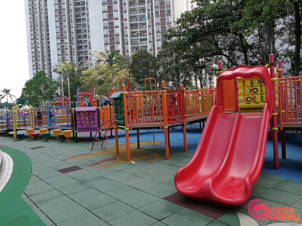 Quarry Bay Park's outdoor equipment of playground