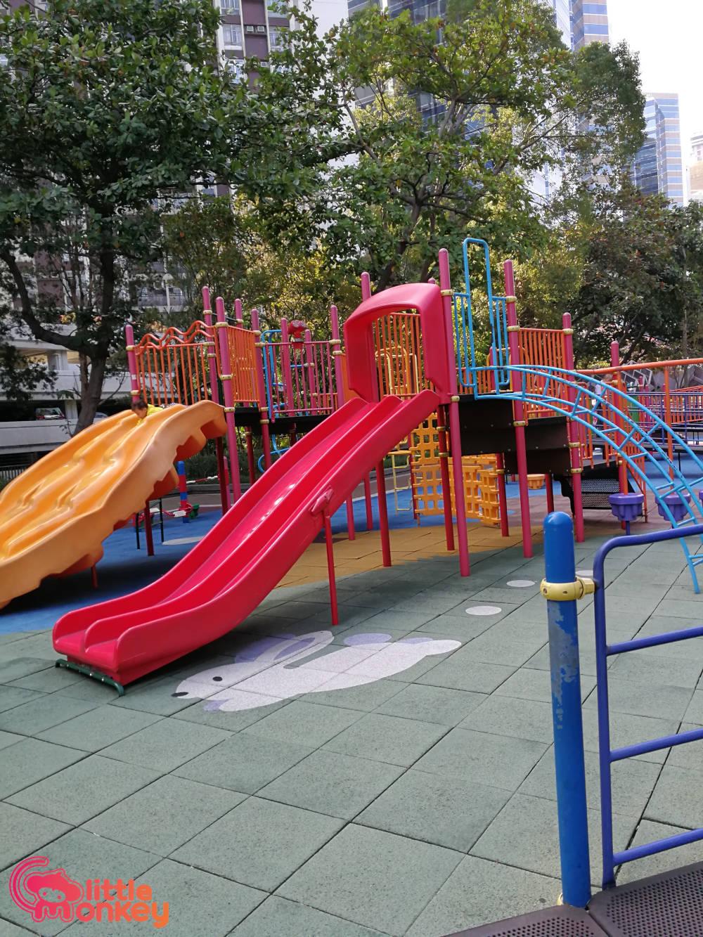 Quarry Bay Park's playground slide