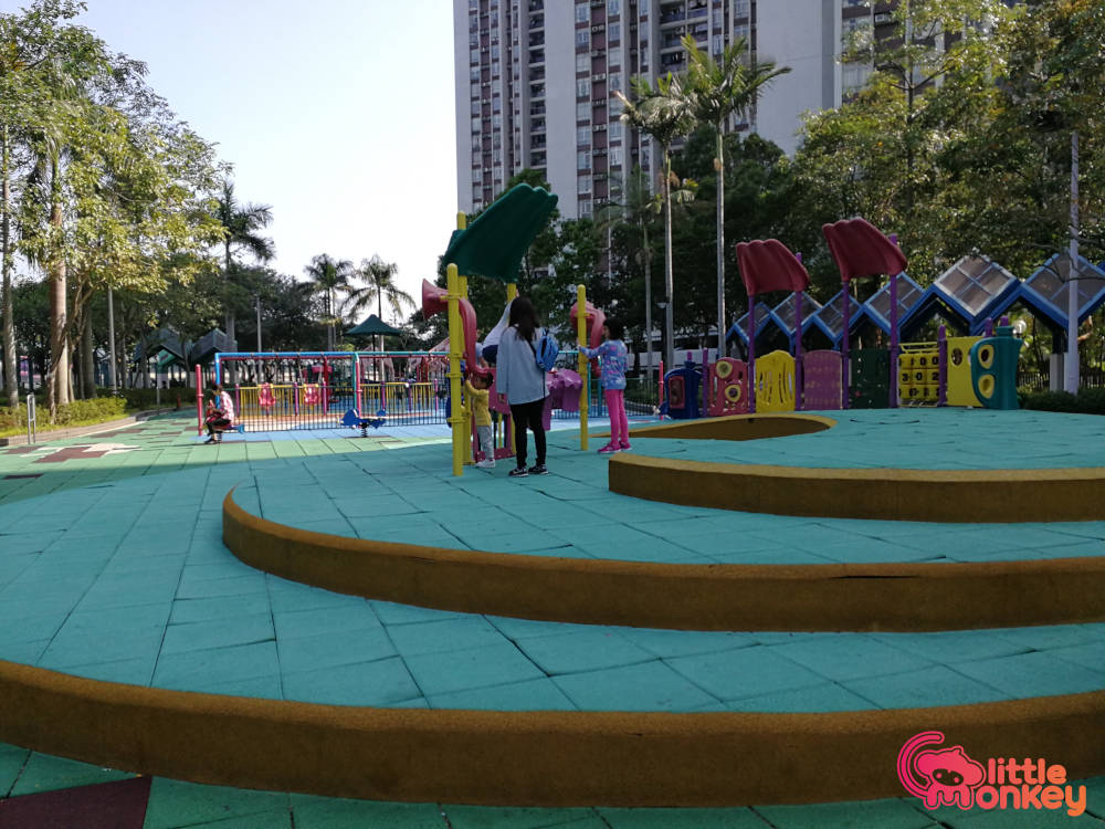 Quarry Bay Park's play area for children