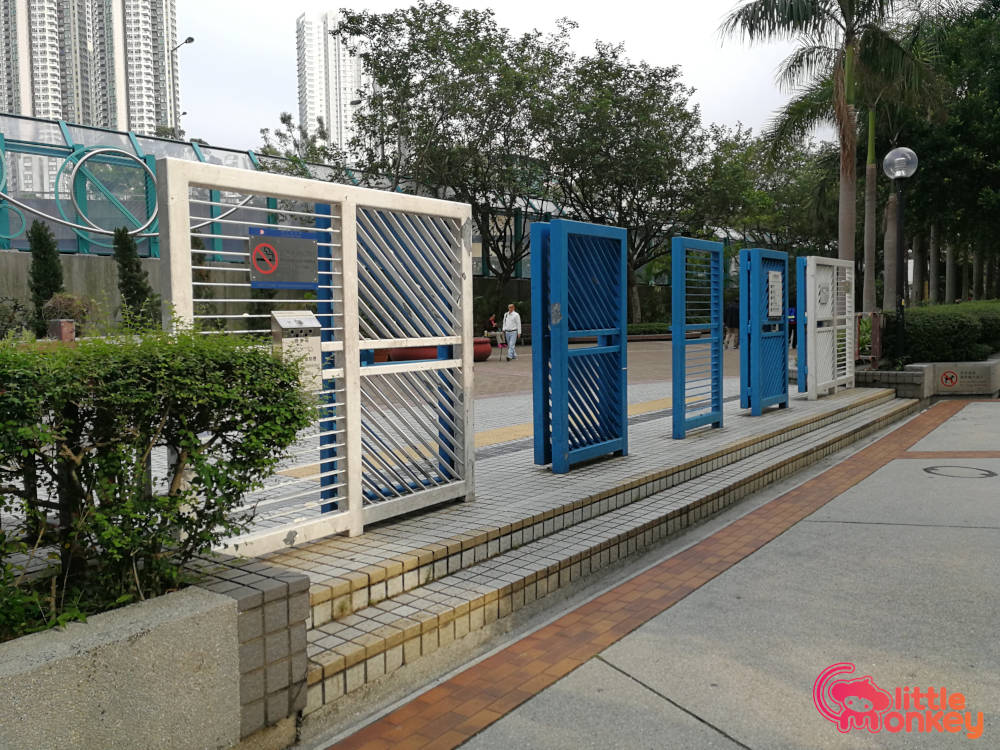 Quarry Bay Park's entrance gate