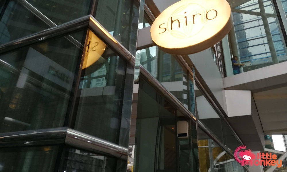 Shiro's logo signage in Taikoo Place
