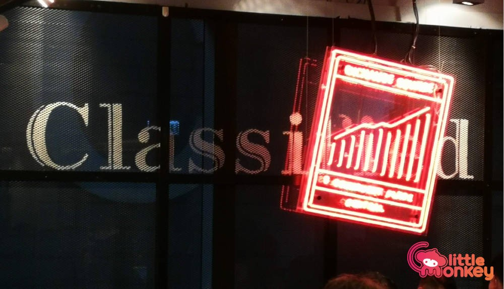Classified's logo signage in Exchange Squares