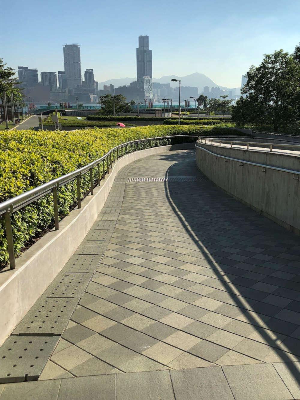 Tamar Park's slope road