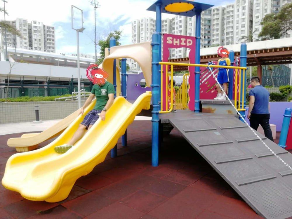 Tai Wan Shan Park's playground slides