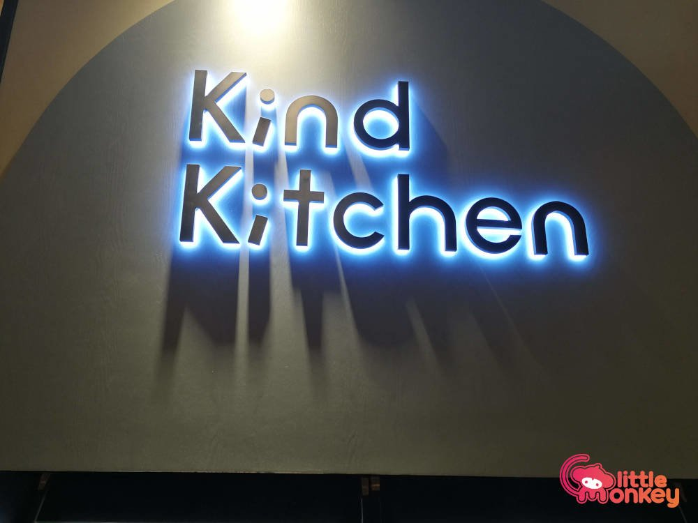 Kind Kitchen's logo signage
