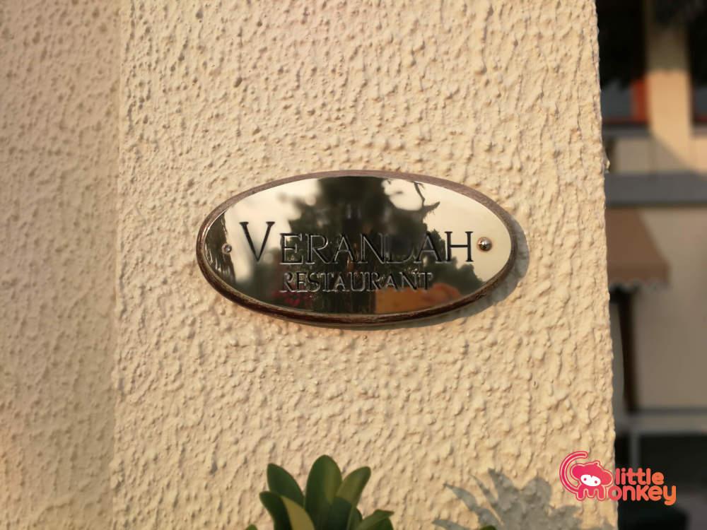 Sign for Verandah Restaurant