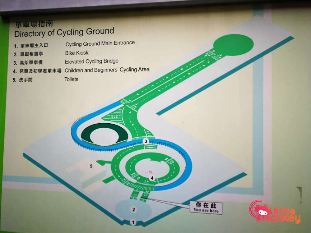 Map of Kowloon Bay Park's Cycling Ground