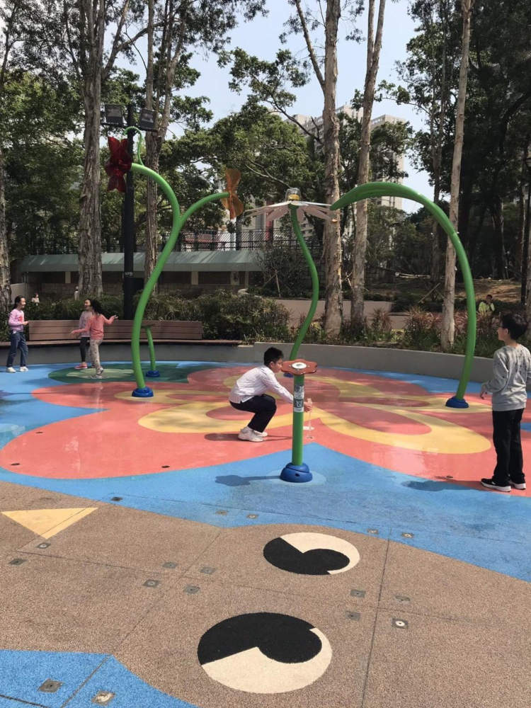 Water play area at Tuen Mun Park
