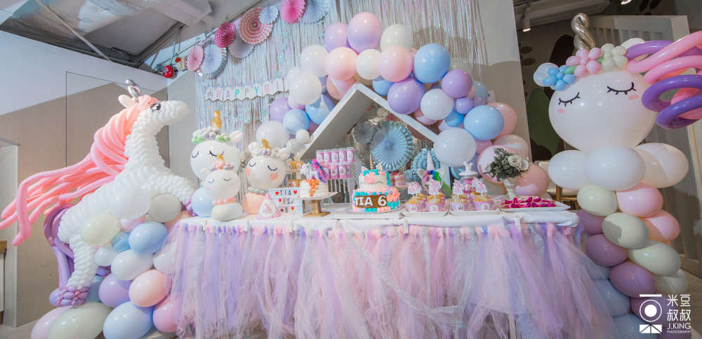 Origami Cafe's Unicorn Party Theme Display Table
