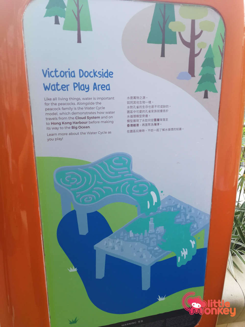 K11 Musea Water Play Area Sign