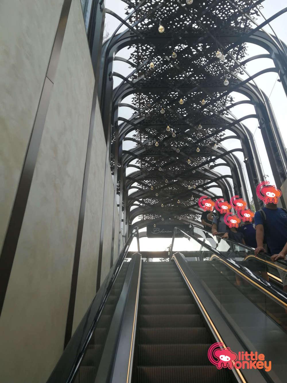 K11 Musea Escalator to Bohemian Garden