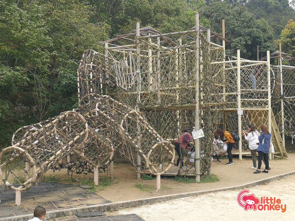 Tai Tong Organic EcoPark's Family Climbing Net