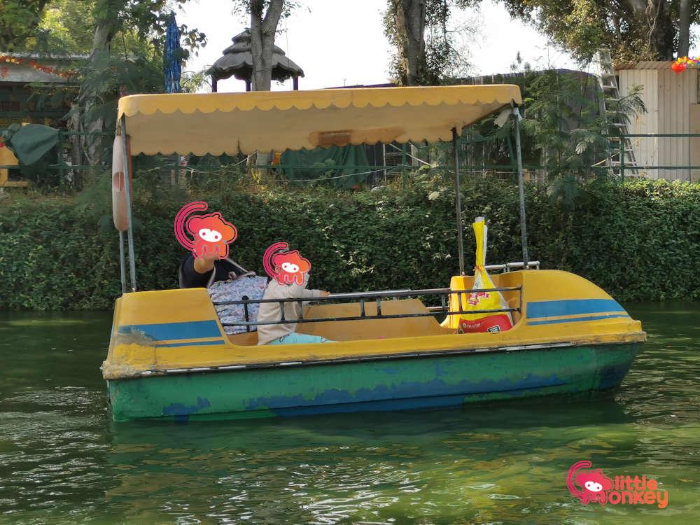 Paddle boat at Tin Shui Wai Green Field Garden